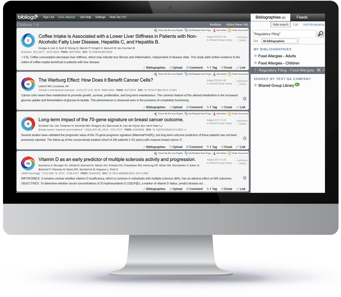 Bibliogo reference manager to collect citations and associated PDFs in bibliographies